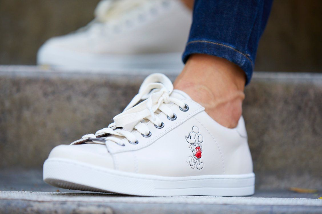 Mickey Mouse Porter Leather Sneakers by
