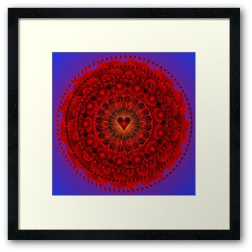 Valentines Day Mandala home decor zen yoga by MandalaHealingArt ...