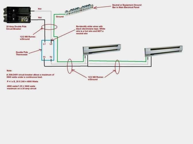16 electric baseboard wiring diagram  baseboard heater