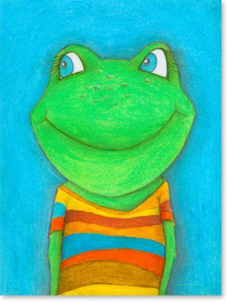 Popular Frosch Karl Heinz Kupinszki Pastellbilder Fr hliche Freunde Entdecken Sie jetzt die fr hlichen Kinderzimmer Bilder von Malerin Sonja Mengkowski