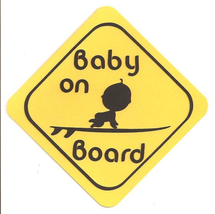 Baby on board pin tag car