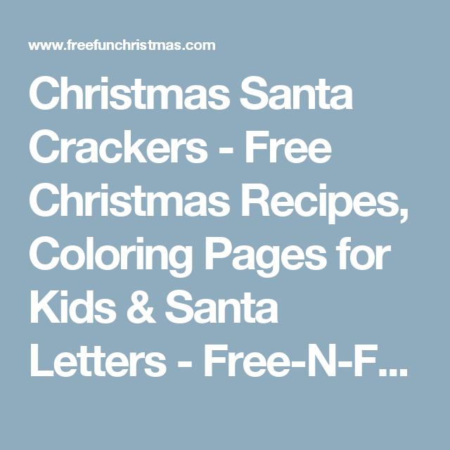 Christmas Santa Crackers - Free Christmas Recipes, Coloring Pages ...