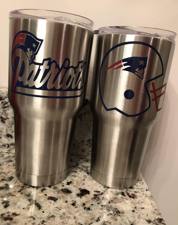 New England Patriots Tumbler Cup Housewares Cup Bridesmaidgift Personalized Sportsteams Vinyl Tumbler Teachergift Ets Vinyl Gifts Tumbler Tumbler Cups