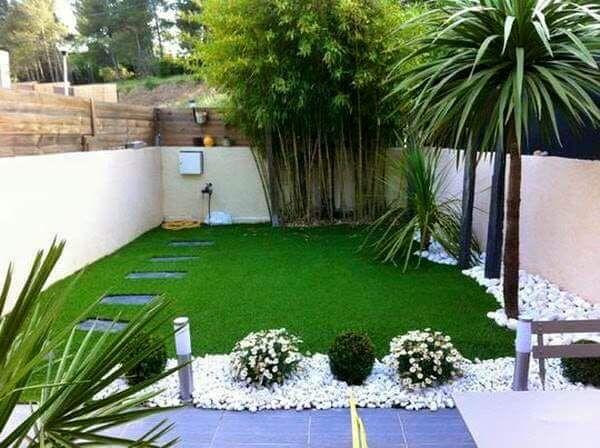 Ideas para jardines peque os con piedra patios gardens - Decorar jardin pequeno ...