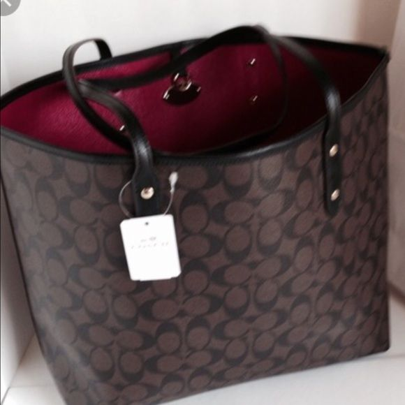 Is anyone selling this taxi tote F36126? I'm looking for this large brown tote with the cranberry lining.  Pls reply on here if so, thank you! Coach Bags Totes