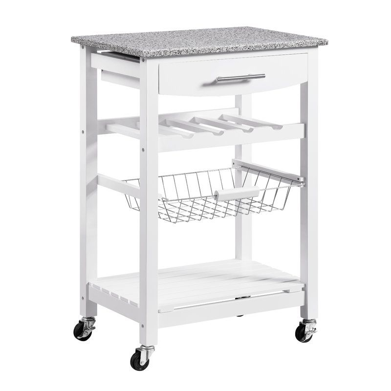 Macy Kitchen Cart with Granite Top | SF apt - kitchen ...
