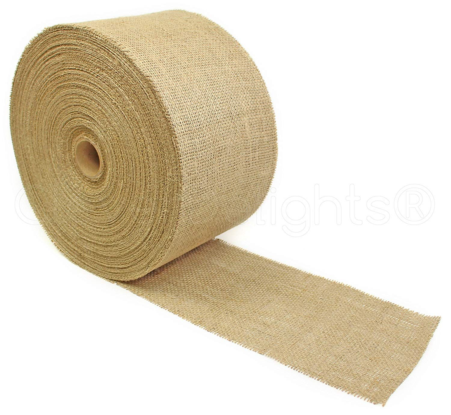 Cleverdelights 6 Natural Burlap Roll 100 Yards Eco Friendly Jute Burlap Fabric 6 Inch You Can Get More Details By In 2020 Burlap Rolls Burlap Fabric Burlap