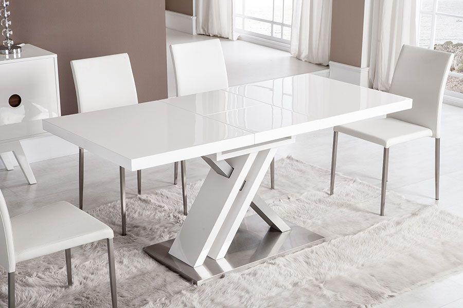 Table de salle manger rectangulaire avec rallonge bernie for Rallonge pour table rectangulaire
