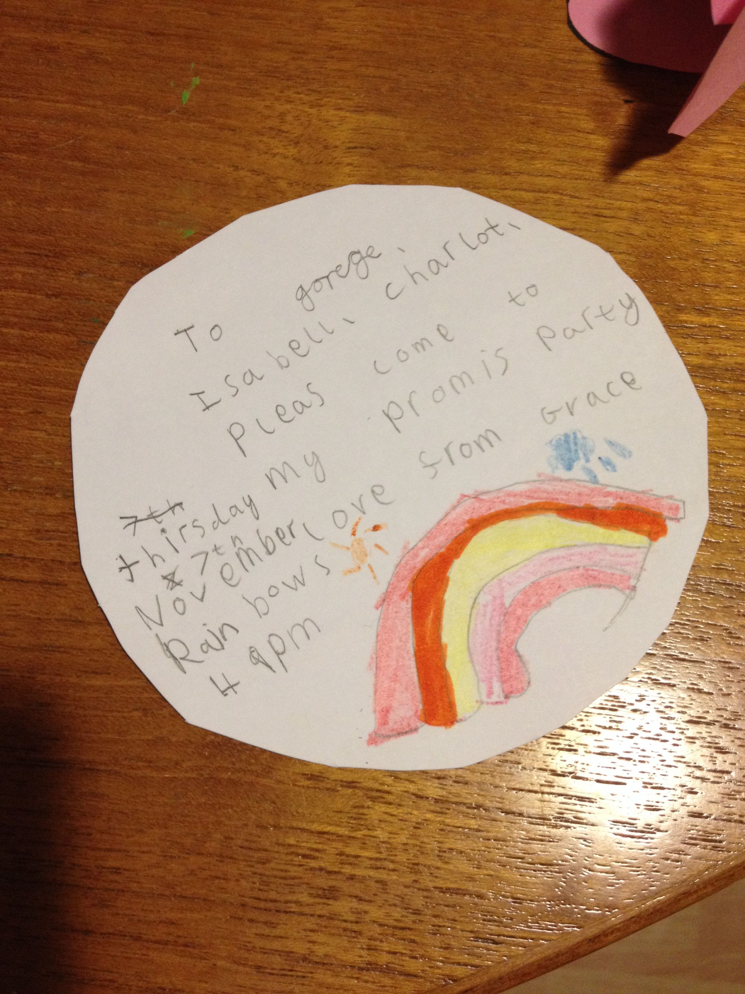 Rainbow Guides Promise Party Invitations