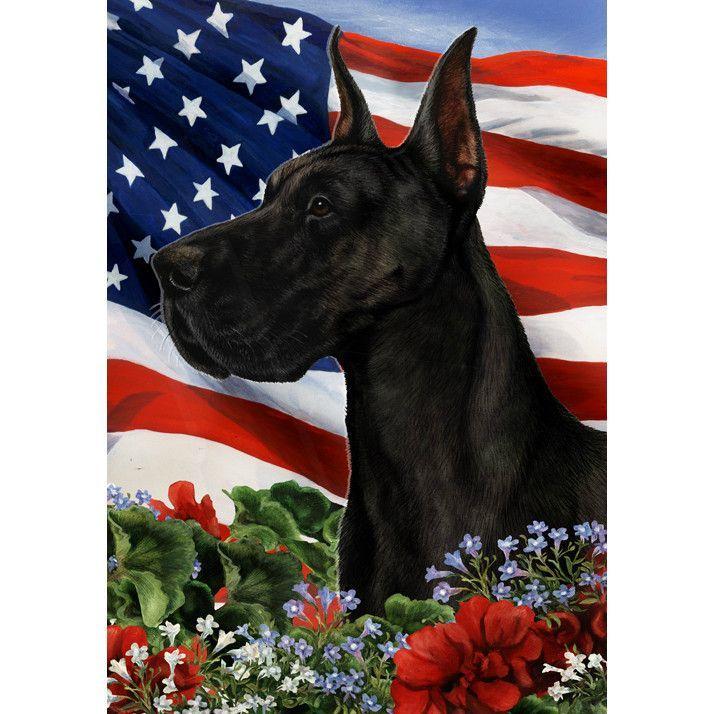 Patriotic Great Dane Flag Great Dane Dogs Great Dane Puppy
