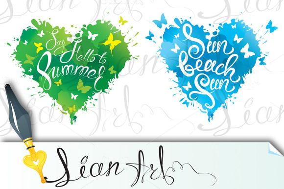 Summer and vacation design by Lian-art on @creativemarket