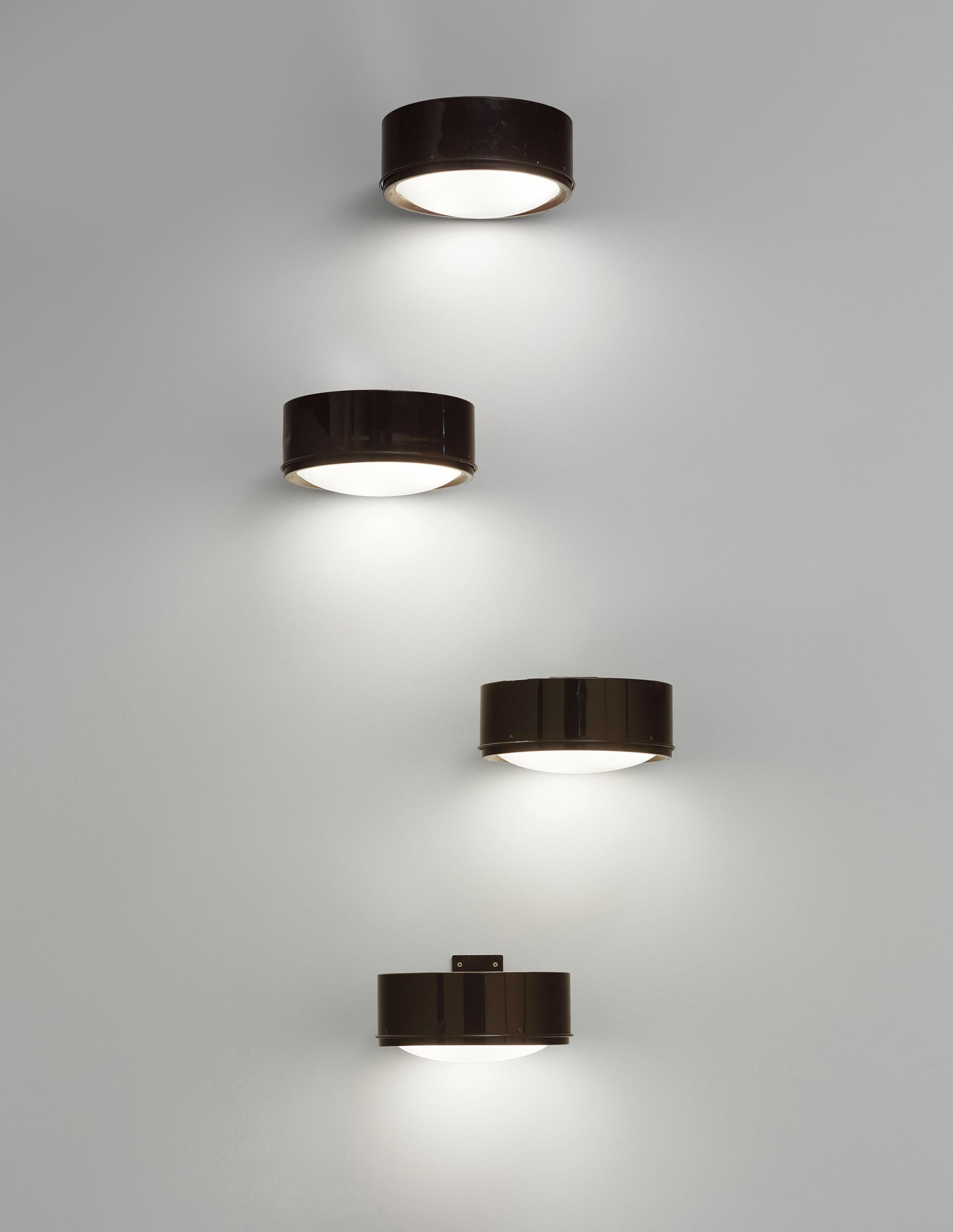 Gino Sarfatti Set Of Four Wall Lights Model No 255 Designed 1966 Painted Aluminium Gl Each 20 5 X 38 41 Cm 8 1 15 16 In