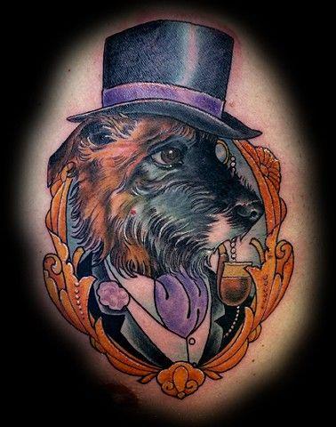 b47bbce43f5be0d88ba5630d7c61c4ef - Neo Traditional Tattoo Dog