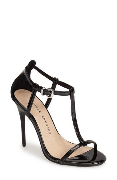 Chinese+Laundry+'Leo'+Patent+T-Strap+Sandal+(Women)+available+at+#Nordstrom