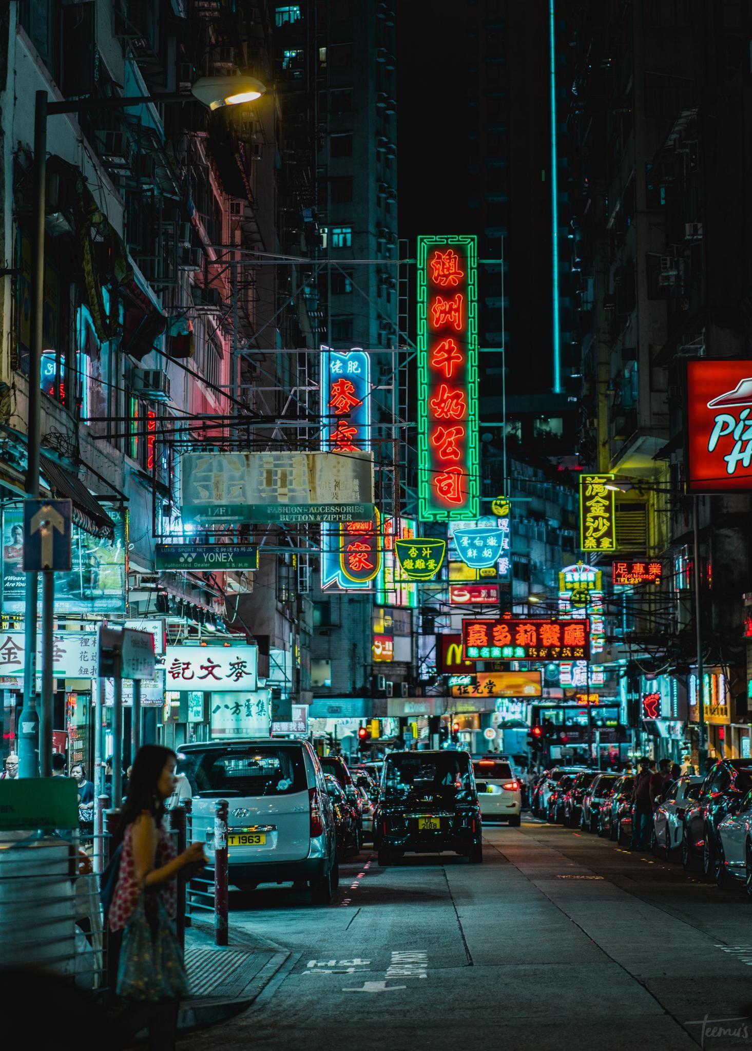 A Classic Hong Kong Street View 1465x2047 Oc