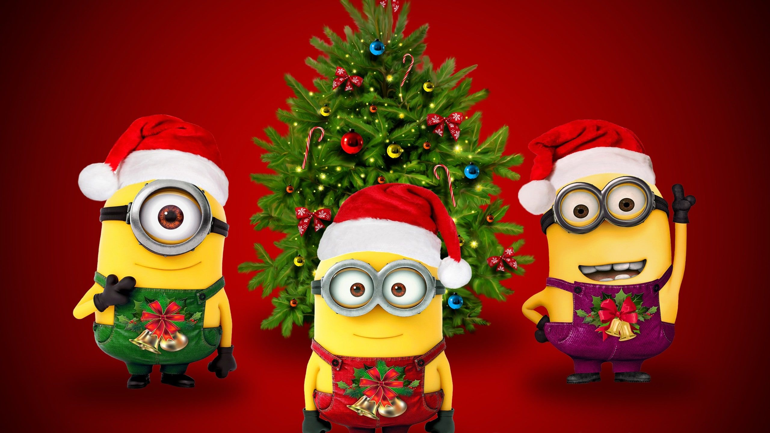 Desktophdwallpaper Org Minion Christmas Merry Christmas Minions Merry Christmas Sms