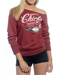 545fd754 Kansas City Chiefs Off Shoulder Womens Sweatshirt   Kansas City ...