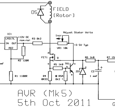 CR4 - Thread: How to Build an AVR for a Three Phase Generator? |  Generation, Electronics circuit, Best answer
