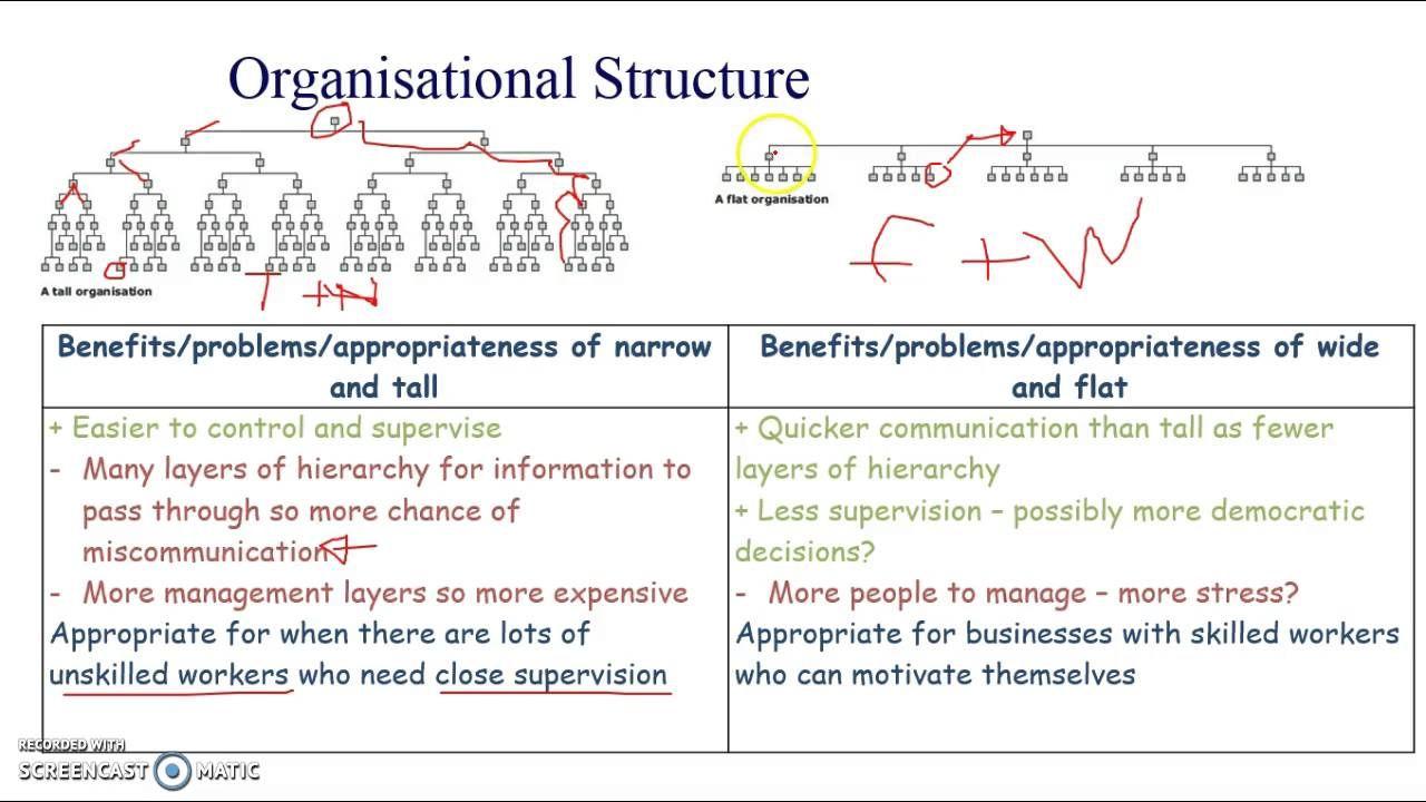 Aqa Gcse Business Studies Unit 2 18 Organisational Structures Gcse Business Studies Organizational Structure Business Studies