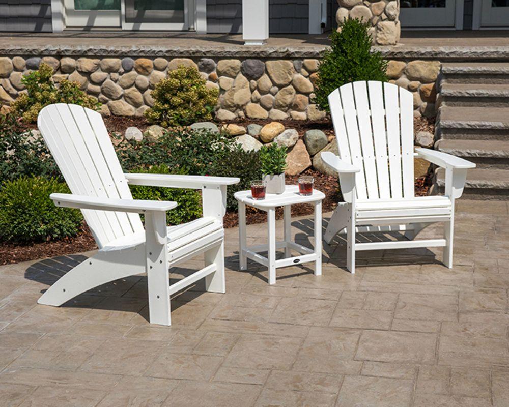Portside 3piece Shellback Adirondack Set Leather chaise