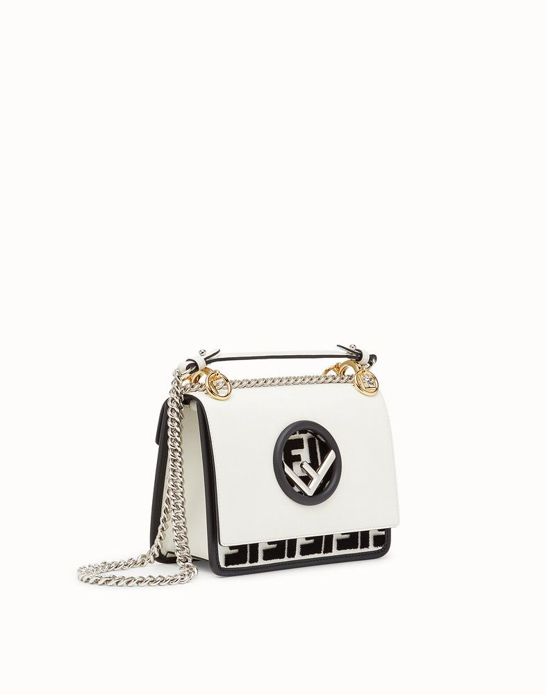 cbbf6340d23b FENDI KAN I F SMALL - White leather mini-bag - view 2 detail