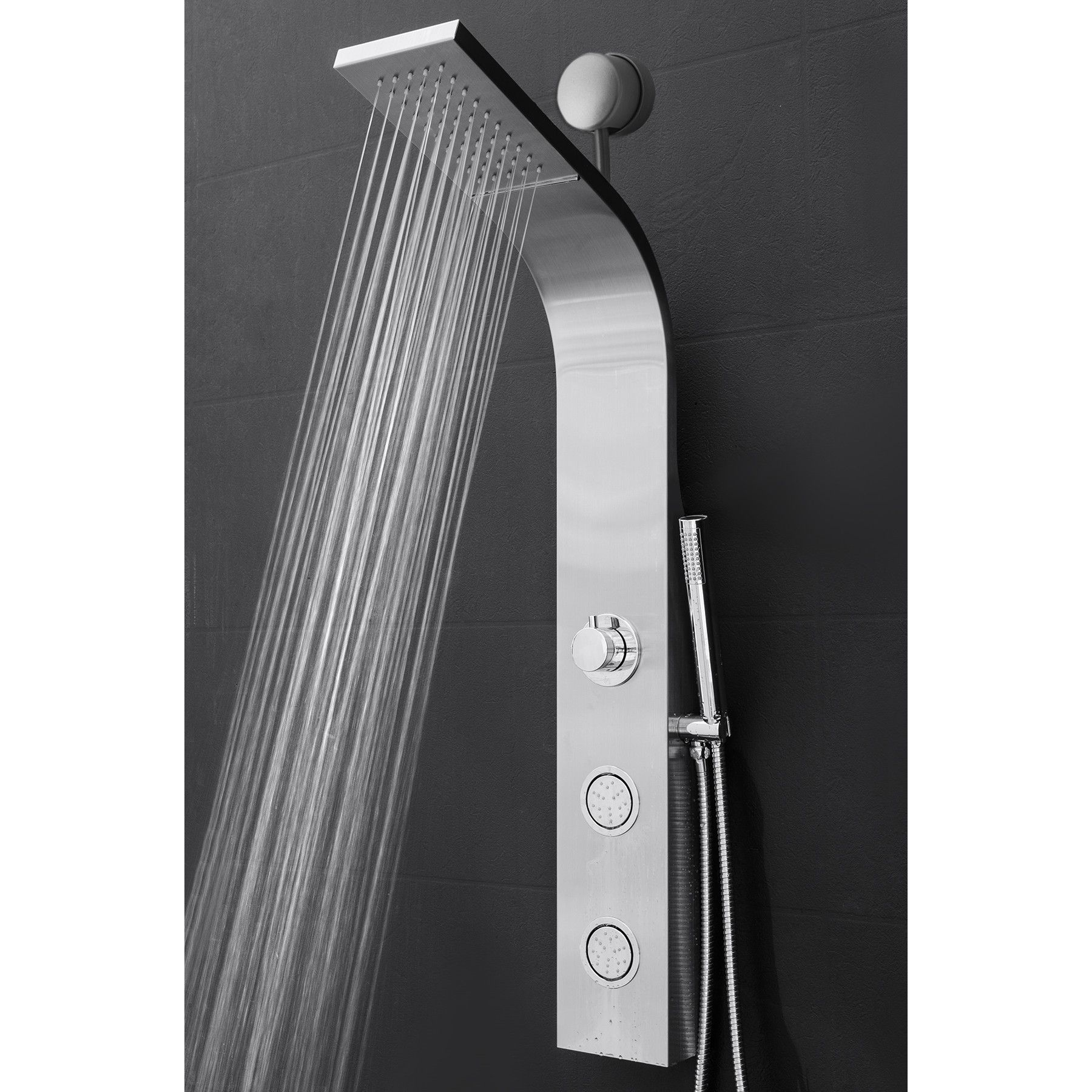 Thermostatic 39 37 Shower Panel Dual Head With Images Shower