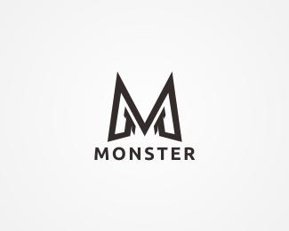 Monster Letter M Logo Logo Design Monster Letter M Logo Files Available Are Illustrator Eps Editabl Logo Design Graphic Design Typography Letter M Logo