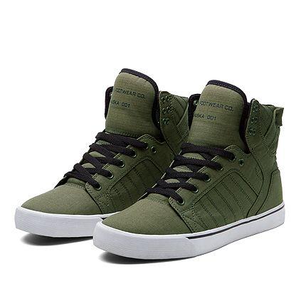 3f0e64d7cf SUPRA SKYTOP | OLIVE/BLACK-WHITE | Official SUPRA Footwear Site ...