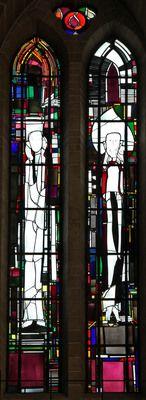 Georg Meistermann   Köln, Kath. Kirche St. Gereon.Der Prophet des Lauschens und der Prophet des Rufens.  Georg Meistermann, 1980