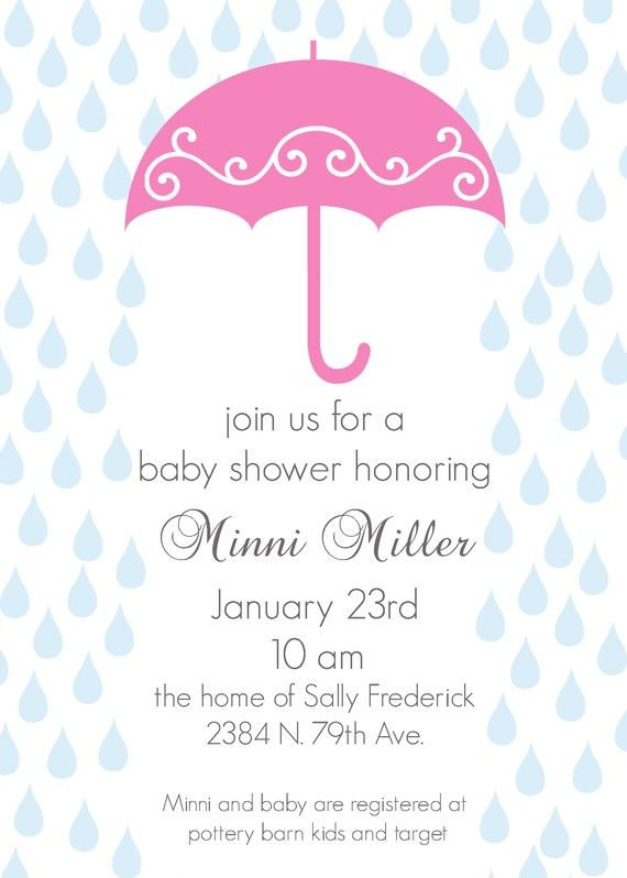 Minni custom umbrella baby shower invitation by andreagerigdesigns find this pin and more on baby shower invitations by lilamyk filmwisefo