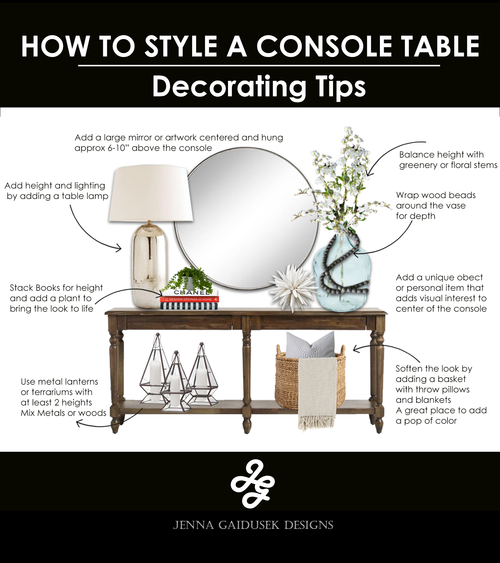 How to Decorate A Console Table images