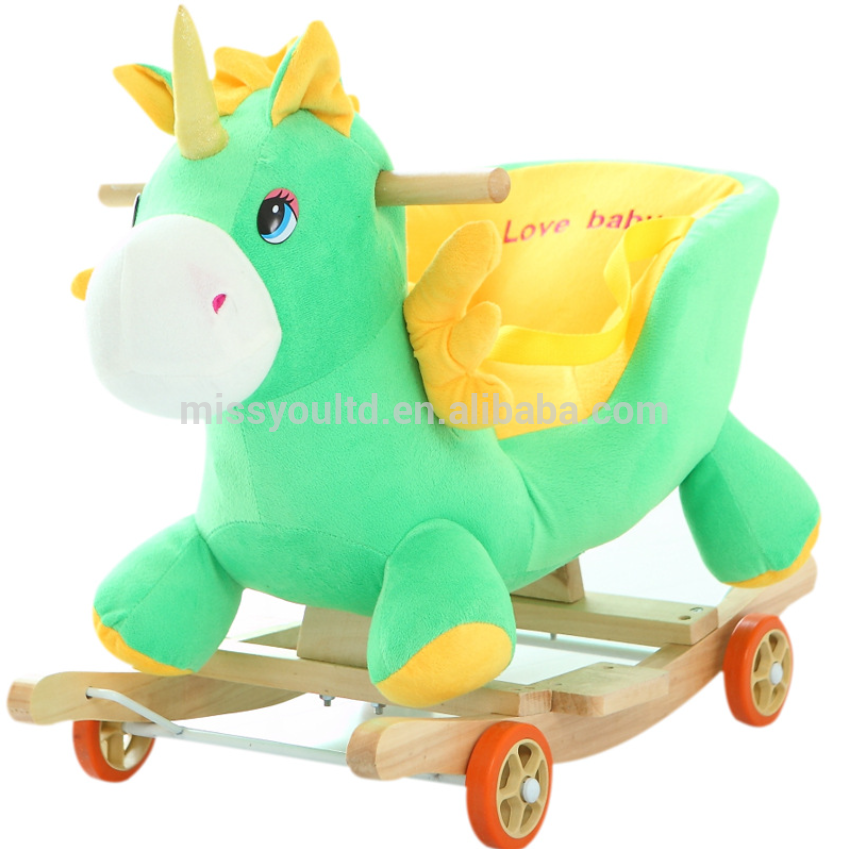 #Stuffed Rocking Animal #Toy With Sound #Baby Custom Toy