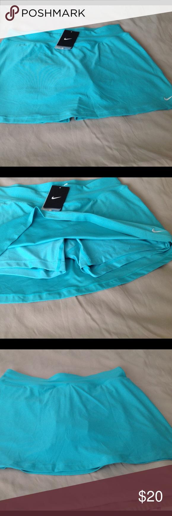 Nice teal colored Nike skorts.   Dri-Fit NWT, LG Dri-Fit  skorts , Nike.  Size large. Nike Shorts Skorts