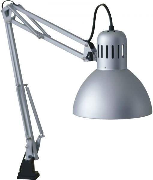 Ikea Tertial Adjustable Work Light Clamp On Desk Garage: Work Table Lamp, With Adjustable Arm In 2019