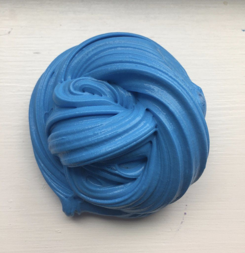 Blue Fluffy Er Slime Make Some And Take Clay Add It To The