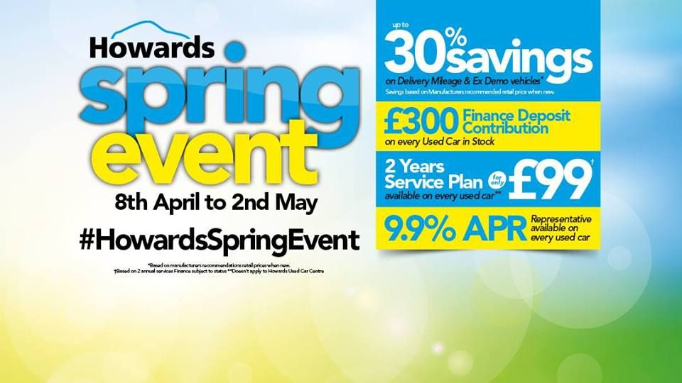 HowardsSpringEvent is now LIVE! Pop into one of our