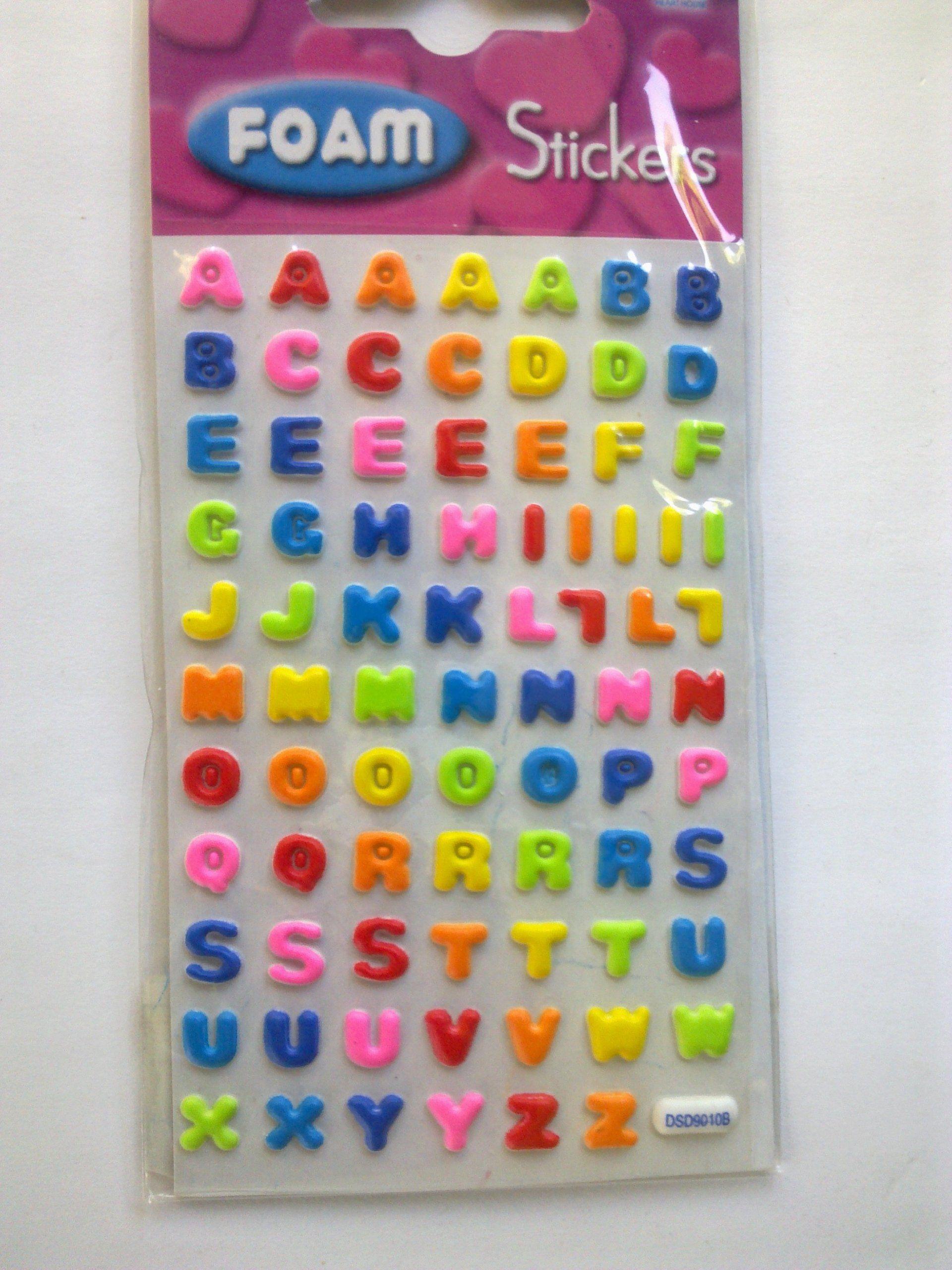 """Sticker - FoamSticker - """" ABC """" bunt 7mm."""
