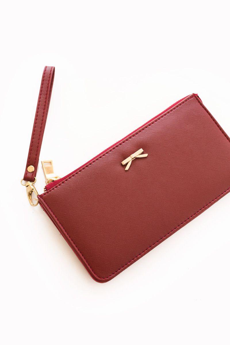 Glenn Bow Zipper Wallet
