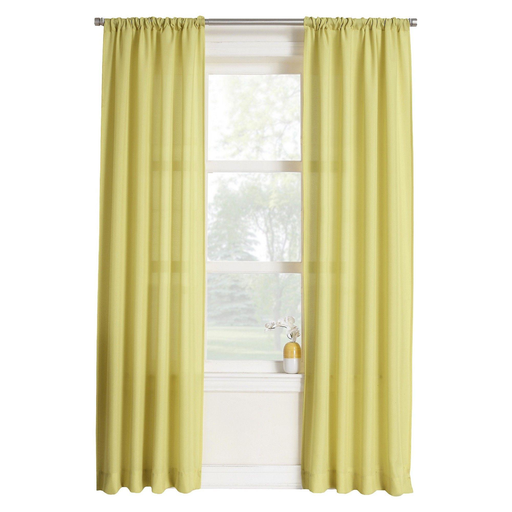 Layne Heathered Semi Sheer Rod Pocket Curtain Panel Citrine 40X84