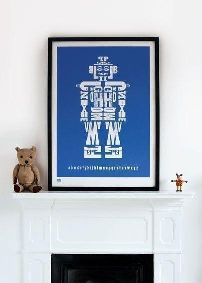 Alphabet de robot (Alphabot) - décoratif sérigraphie ...
