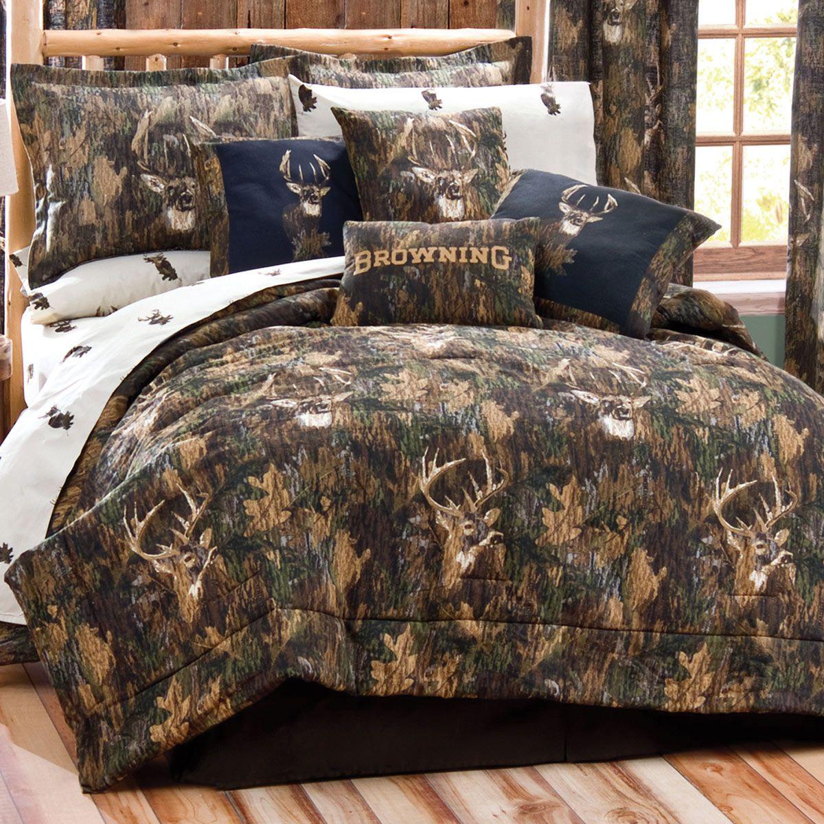 Browning Camo Deer Comforter Set Twin Home Decor Camo