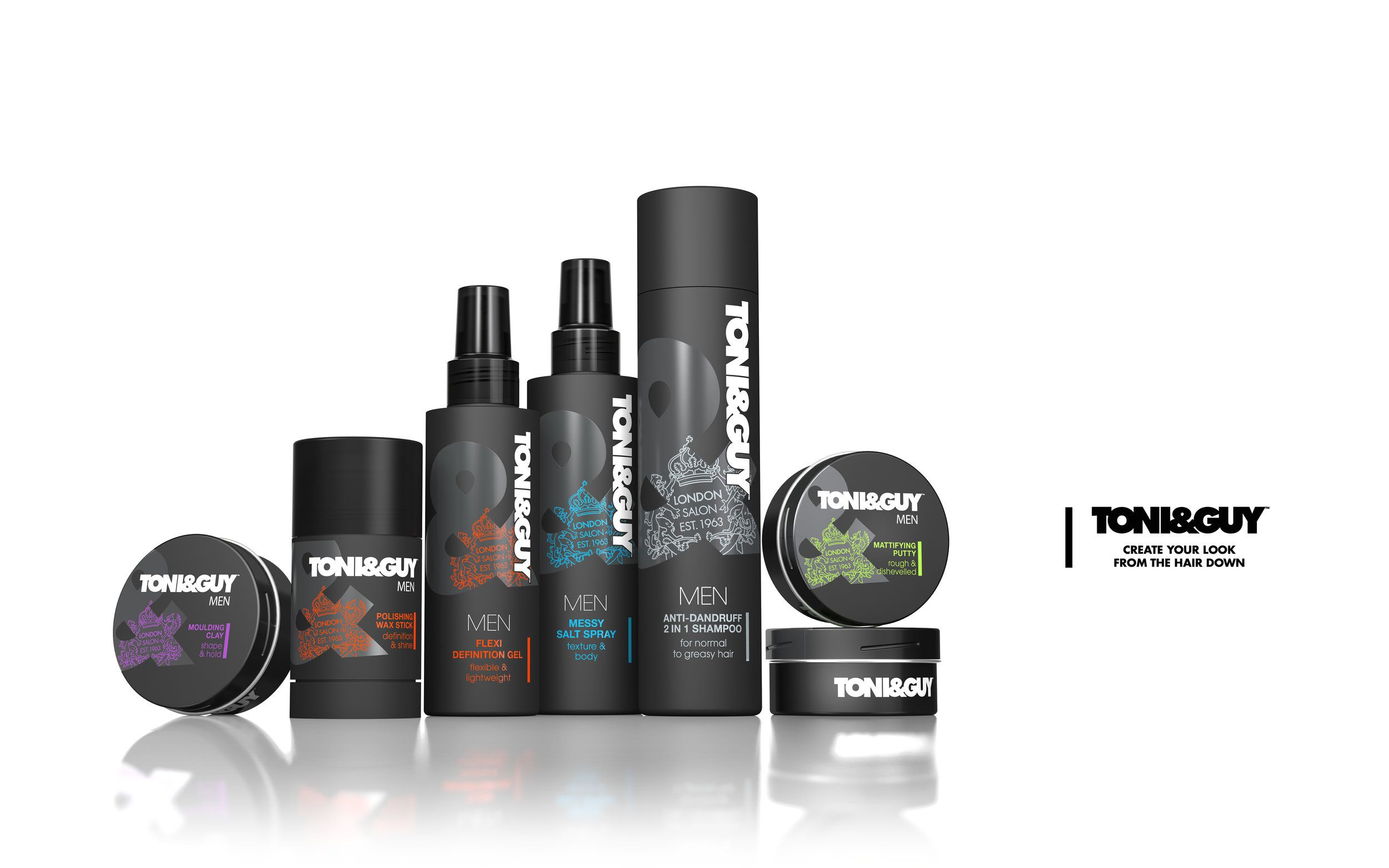 Toni Guy Goes Bold With Revamped Brand Design Branding Design Toni And Guy Beauty Packaging