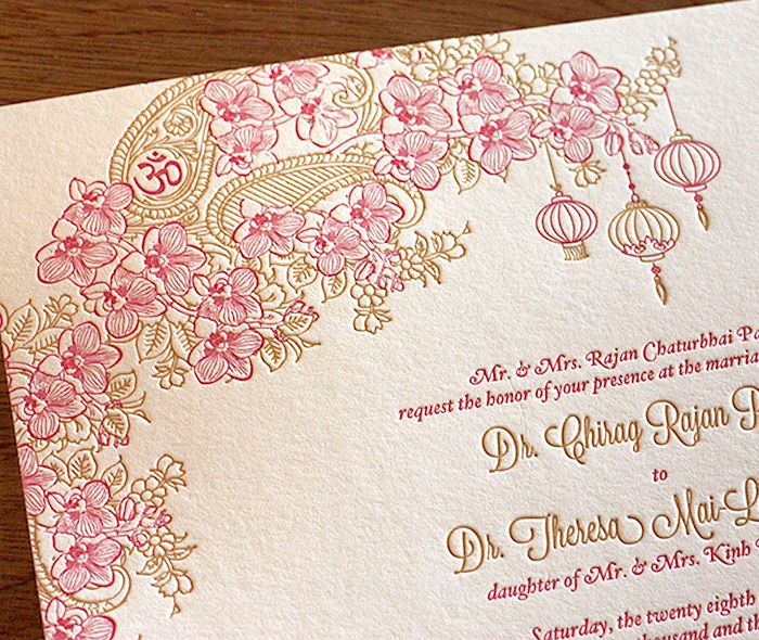 vietnamese and indian fusion #wedding invitation set in, Wedding invitations