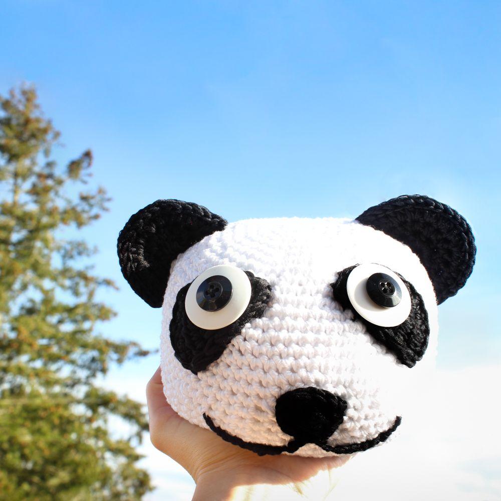 doorstops, panda, mjukstore, animal head, crochet #mjukstore #etsy ...