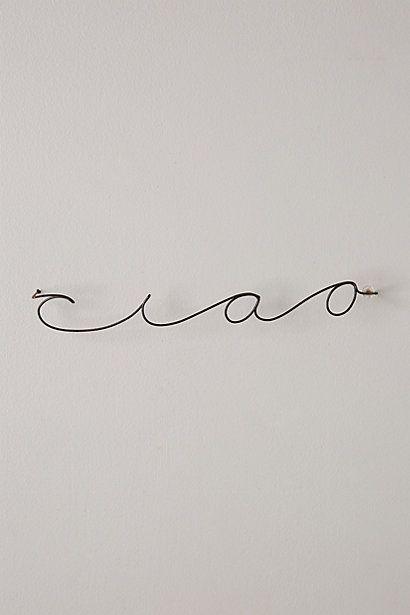 Wire Script Sculpture | studio/gallery space - inspirations