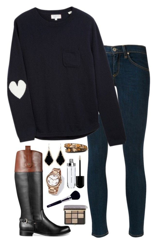 """""""Heart patches"""" by kaley-ii ❤ liked on Polyvore featuring rag & bone, Chinti and Parker, Tommy Hilfiger, Tory Burch, Kendra Scott, Michael Kors, Napoleon Perdis and Bobbi Brown Cosmetics"""