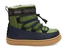 e2a8a5d80a7 Light Pine Quilted Synthetic Leather Water Resistant Tiny TOMS Alpine Boots