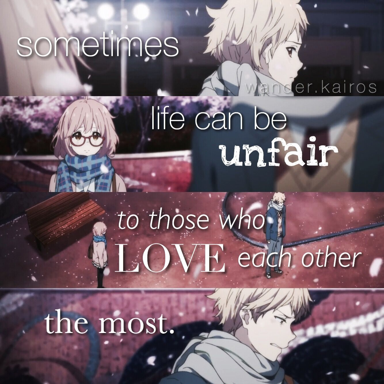 Anime Quotes About Friendship Kyoukai No Kanata Anime Quote  Anime Quotes C Dem Kokoro
