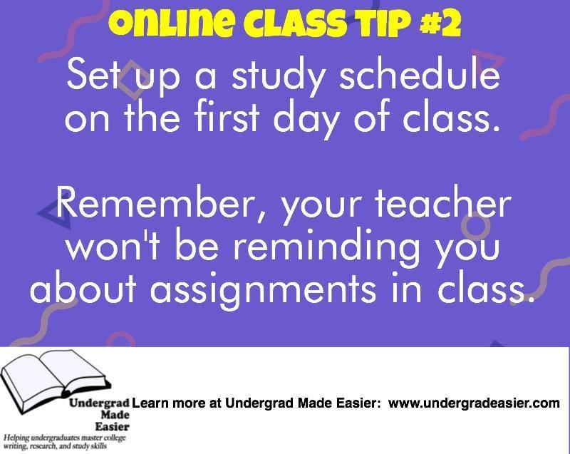 online class schedule planner