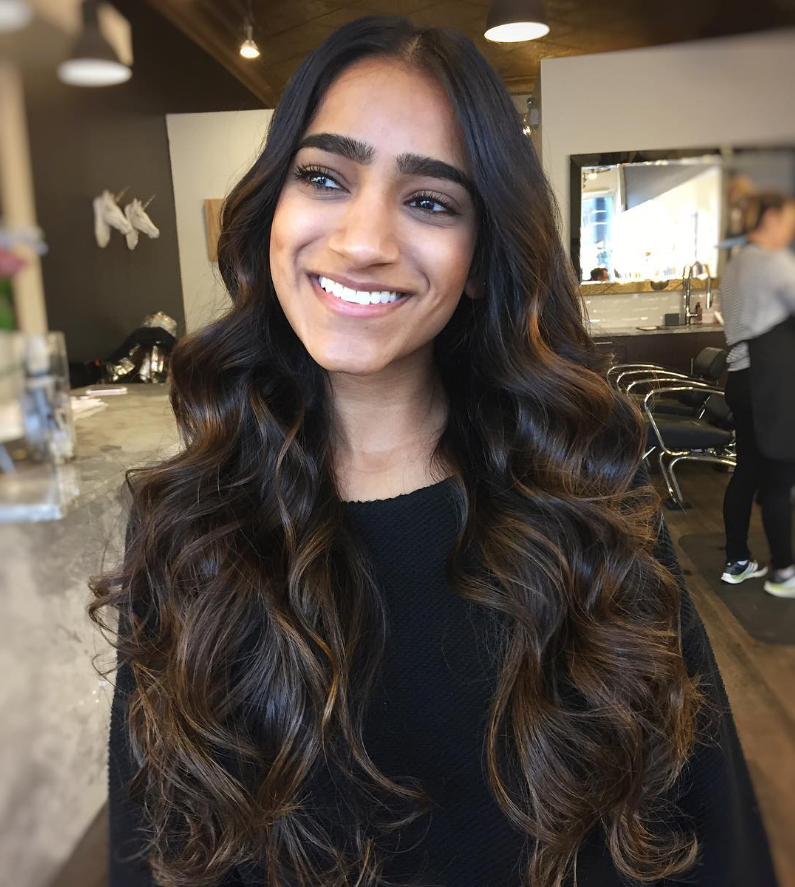 30 Fascinating Black Ombre Hair Ideas Colors Of Midnight Check More At Http Hairstylezz Com Best Black Hair Ombre Indian Hair Highlights Indian Hair Color